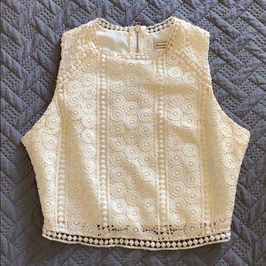 XS lace crop top A&F.